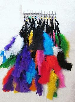 """1 DOZEN  """"VARIETY PACK # 1"""" ALL DIFFERENT ASSORTED FEATHER P"""
