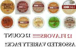 12 ASSORTED FLAVORS K CUPS VARIETY PACK CAKE BOSS & GUY FIER