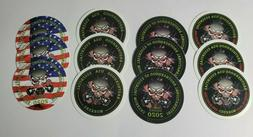 """12 PACK 2"""" Essential Worker Hard Hat Sticker VARIETY Pack Ma"""