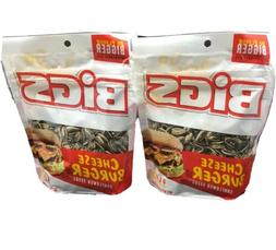 2 Pack Bigs Cheese Burger Sunflower Seeds 5.35oz Bags Limite
