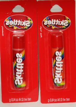 2 SKITTLES Flavored Lip Balms STRAWBERRY FLAVOR & MANGO TANG