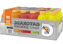 24 Gatorade 20 oz bottles 3 Flavor Variety Pack Orange Lemon