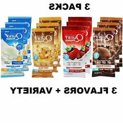 3 PACK Quest Protein Powder 1 OZ - Choose Flavor or Variety