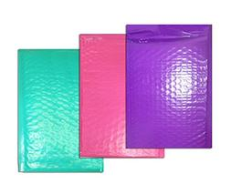 30 -6x9 *Hot Pink, Teal, & Purple Bubble Mailers