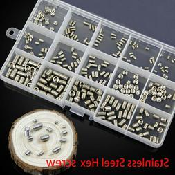 300x Head Socket Hex Grub Screw Assortment Cup Point Set Met