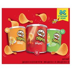 Pringles 36 Variety Pack Sour Cream/Original/Cheddar Cheese