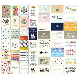 48 All Occasion Greeting Cards - Assorted Happy Birthday, Th