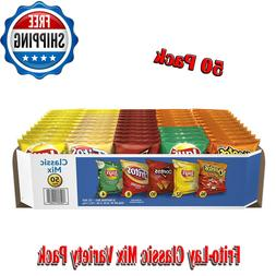 50 Pack Frito-Lay Classic Mix Variety, Snacks, Chips, Includ