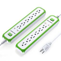 Poweradd 6-Outlet Commercial Power Strip Surge Protector 900