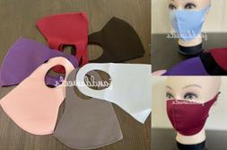 6PC Variety Pack Reusable Face Mask Black Fashion Washable M