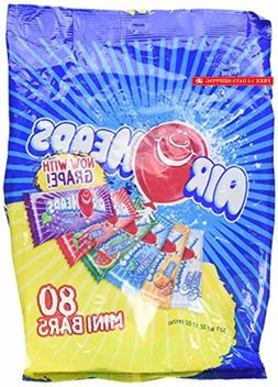 AirHeads 80 Mini Bars Fun Taffy Candy Assorted Fruit Flavors