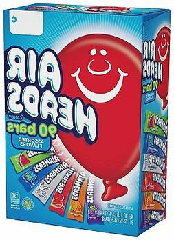 Airheads 90 ct. Variety Pack 55 oz. Taffy Candy Bars - Displ