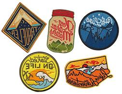 Asilda Store Appliques Adventure 5 Patch Variety Pack