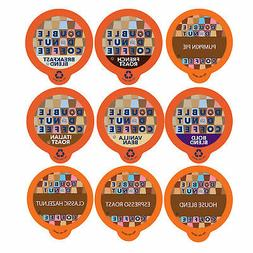 Double Donut Coffee Variety Pack Sampler for Keurig K-cup Br
