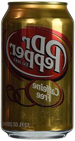 Dr. Pepper Caffeine Free 12oz Can Pack of 12