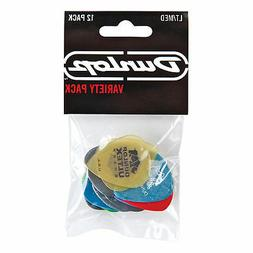 Dunlop PVP101 Pick Variety Pack, Assorted, Light/Medium, 12/