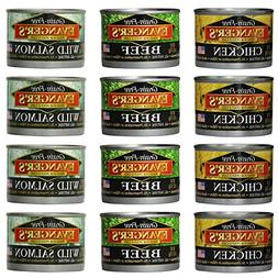 Evanger's Grain-Free Canned Wet Food Variety Pack for Dogs a