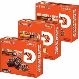 Gatorade Whey Protein Recover Bars, Variety Pack, 2.8 oz bar
