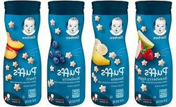 Gerber Graduates Puffs Cereal Snack, Variety Pack 1.48 Oz, 4