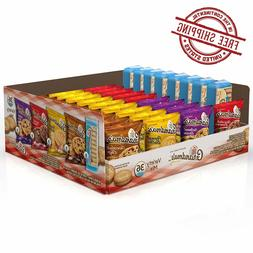 Grandma's Cookies Variety Pack 36 Count Box Biscotti Chocola