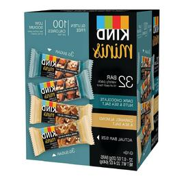 Kind Mini's 32 bar Variety Pack Dark Chocolate Nuts Sea Salt