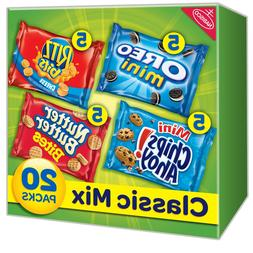 NABISCO VARIETY PACK COOKIES & CRACKERS CLASSIC MIXED - 1oz