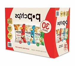 Popchips Potato Chips, Variety Pack, 0.8 oz, 30-count packs
