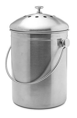 Top Rated Epica Stainless Steel Compost Bin 1.3 Gallon-Inclu