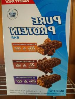 Pure Protein Bars -18 pack Variety