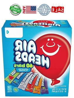 AirHeads Bars, Chewy Fruit Candy, Variety Pack, 60 Count, Fr