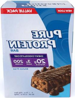 Pure Protein Protein Bars, Chewy Chocolate Chip, 6 ct