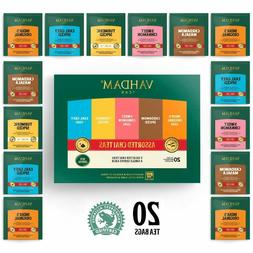Vahdam, Black Tea Sampler, 5 Teas - Variety Pack Assorted Ba