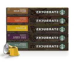 Starbucks by Nespresso, Favorites Variety Pack, 50 Count, fo