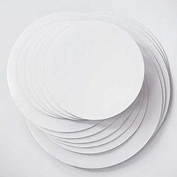 "Cake Board Circles - GREASE PROOF 12"", 10"", 8"" Round Variety"