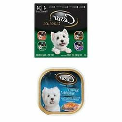 CESAR CANINE CUISINE Wet Dog Food Poultry Variety Pack,  3.5