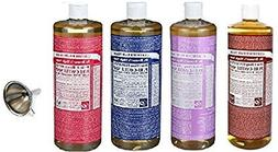 Dr. Bronner's Pure Castile Soap 4 Rainbow Variety Pack, 32 o