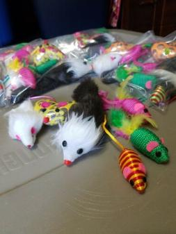 CAT TOYS     MOUSE  VARIETY  PACK  OF 6 MULTI-COLOR