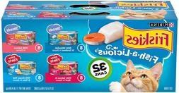 Cat Wet Food - Purina Friskies Variety Pack, Fish A Licious