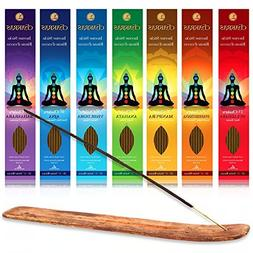 Chakras Incense Sticks Set of 140 - 60 minute sticks  with w