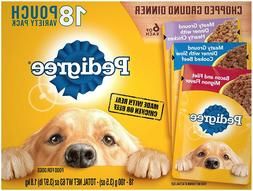 PEDIGREE Chopped Ground Dinner Adult Wet Dog Food Pouches