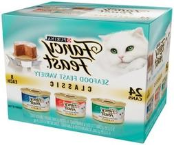 Fancy Feast Classic Gourmet Seafood Feast Variety Pack Canne