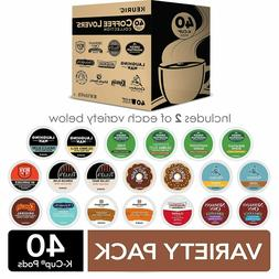 Keurig Coffee Lovers' Collection Variety Pack 40 Count Exp 0