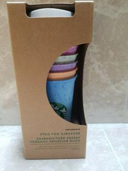 Starbucks Coffee Marble Reusable 6 Cups Variety Colors, 16oz