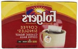 Folgers Coffee Singles Classic Roast Coffee Bags, 6 Ounce, 3