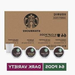 Starbucks Dark Roast K-Cup Coffee Pods  Variety Pack for Keu