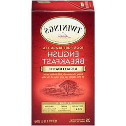 Twinings of London Decaffeinated English Breakfast Black Tea