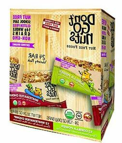 Don't Go Nuts Nut-Free Organic Snack Bars, 24 Count Variety