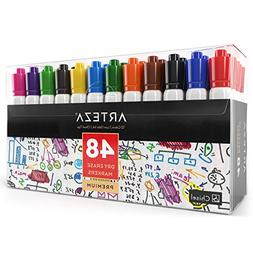 Arteza Dry Erase Markers, White Board Pens, 12 Colors, Multi