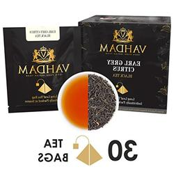 Earl Grey Citrus, 15 Tea Bags , 100% NATURAL, Long Leaf Pyra