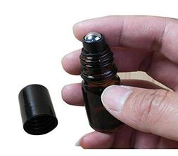 5ml Empty Upscale Amber Glass Essential Oil Roller Roll on B